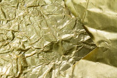 Golden foil textured and background Royalty Free Stock Photo