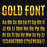 Golden font Royalty Free Stock Image