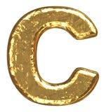 Golden font. Letter C. Stock Image