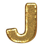 Golden font. Letter J. Royalty Free Stock Photos