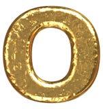 Golden font. Letter O. Royalty Free Stock Image