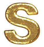 Golden font. Letter S. Stock Photos