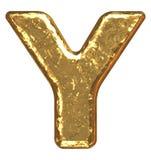 Golden font. Letter Y. Stock Images