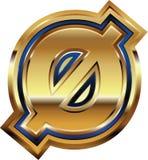 Golden Font Number 0 Royalty Free Stock Images