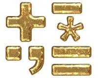Golden font. Symbols Stock Photos