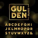 Golden font. Vector alphabet. Stock Photos