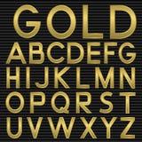 Golden Font Stock Images