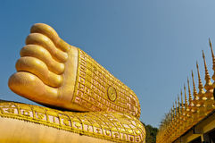 Golden foot of buddha image Stock Photography