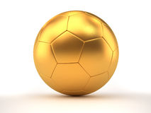 Golden football Royalty Free Stock Photography