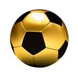 Golden football ball Stock Photography