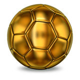 Golden football ball Royalty Free Stock Images