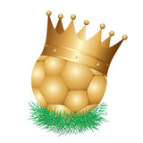 Golden football crown Stock Photo