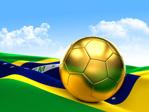 Golden football Stock Images