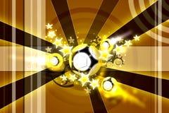 Golden football design. Golden football (soccer) background design royalty free illustration