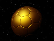 Golden football Royalty Free Stock Image