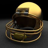 Golden football helmet Stock Photo