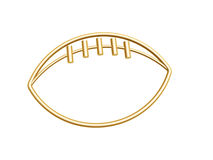 Golden football symbol Stock Images