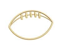 Golden football symbol. Isolated on white background Stock Images