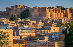 Golden Fort in Jaisalmer Stock Photos