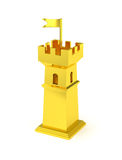 Golden fortress tower miniature gold castle Royalty Free Stock Image
