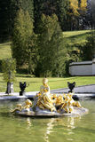 Golden fountain in Linderhof Castle, Bavaria Royalty Free Stock Photo