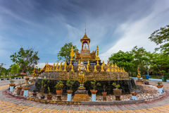 Golden Fountain Royalty Free Stock Photography