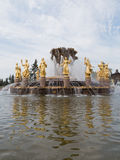 Golden Fountain in Moscow Stock Photos