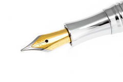 Golden Fountain Pen Stock Photography