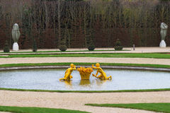 Golden fountain of Versailles Royalty Free Stock Images