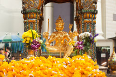 The Golden four-faced Brahma (Phra Phrom). Royalty Free Stock Image