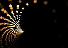 Golden Fractal Dots Royalty Free Stock Image