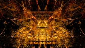 Golden Fractal Forms Stock Image