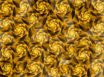 Golden fractal roses Stock Images