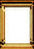 Golden fram crunchy 3D. Golden metallic frame for photo text or image box crunchy surface Stock Photos