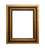 Golden frame with path Royalty Free Stock Photography
