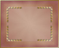 Golden Frame. Beautiful golden frame, with gold corners vector illustration