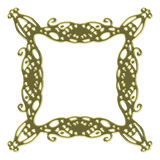 Golden frame. Golden detailed frame, isolated on white background Stock Images