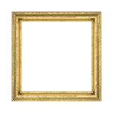 Golden frame. Isolated on white. File contains clipping path Stock Photo
