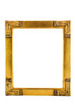 Golden Frame. Golden painting frame on white background Royalty Free Stock Photography
