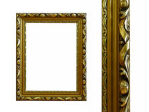 Golden frame. Royalty Free Stock Image