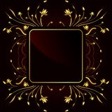 Golden Frame royalty free illustration