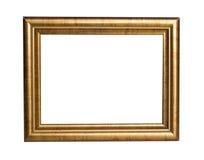 Golden frame. Isolated on white Stock Photo