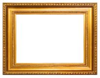 Golden frame. Gold frame with clipping path over white background