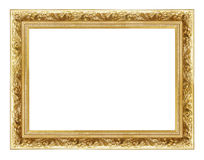 Golden frame 2. Beautiful classic golden frame isolated on white Stock Image