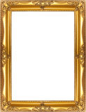 Golden frame. Baroque golden frame isolated on white background Royalty Free Stock Images