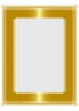 Golden frame. Highlighted golden picture frame design Stock Photo