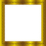 Golden frame. In isolated by illustrations Royalty Free Stock Photo