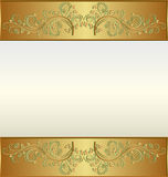 Golden frame. Vintage golden frame with place for the text Royalty Free Stock Photography