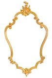 Golden frame. Ancient golden frame with ornaments over a white background Royalty Free Stock Images