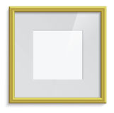Golden frame. Vector golden frame with passepartout Stock Image